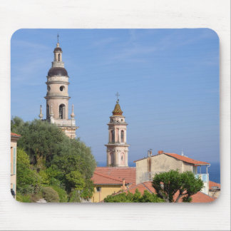 Basilica at Menton in France Mouse Pad