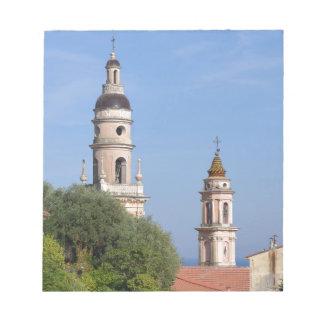 Basilica at Menton in France Notepad