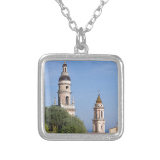 Basilica at Menton in France Silver Plated Necklace