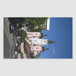 Basilica In Mariazell Rectangle Sticker