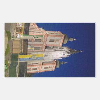 Basilica In Mariazell Rectangular Stickers