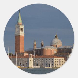 Basilica in Venice in Italy Classic Round Sticker