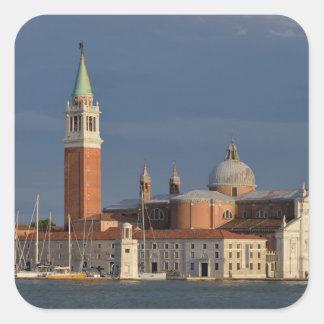 Basilica in Venice in Italy Square Sticker