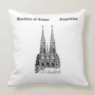 Basilica of Lujan (Pencil design) Throw Pillow