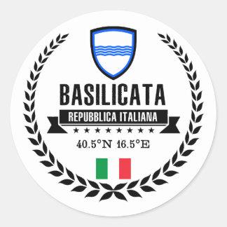 Basilicata Classic Round Sticker