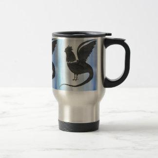 Basilisk on Blue Travel Mug