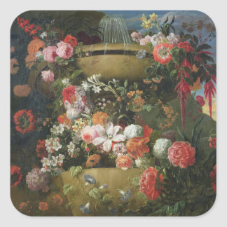 Basin and Flowers Square Sticker