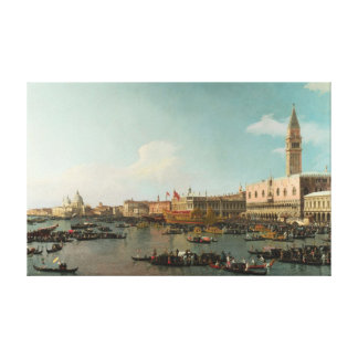 Basin of San Marco on Ascension Day (by Canaletto) Canvas Print