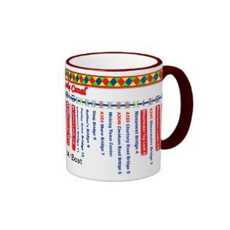 Basingstoke Canal Route Map (1st of 2) Ringer Coffee Mug
