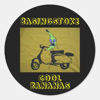BASINGSTOKE COOL BANANAS ROUND STICKER