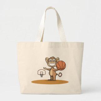 Basket-ball de singe sac en toile jumbo