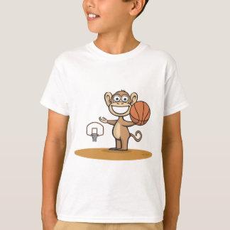Basket-ball de singe t-shirt