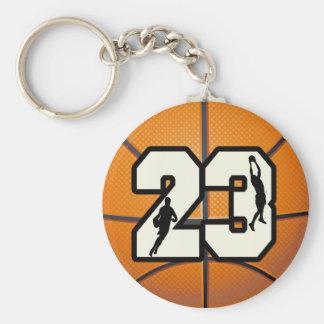 Basket-ball du numéro 23 porte-clé