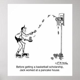 Basket-ball et crêpes poster