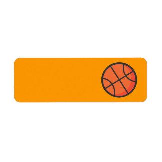 Basket-ball Étiquette D'adresse Retour