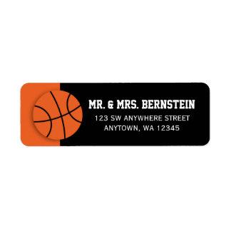 Basket-ball Étiquettes D'adresse Retour