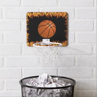 Basket ball in the fire mini basketball hoop