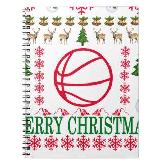 BASKET BALL MERRY CHRISTMAS . NOTEBOOKS