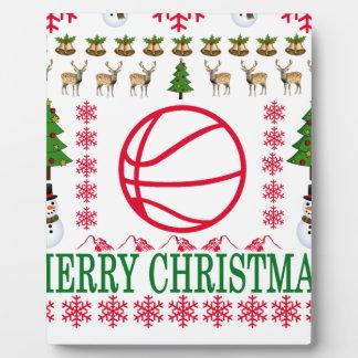 BASKET BALL MERRY CHRISTMAS . PLAQUE
