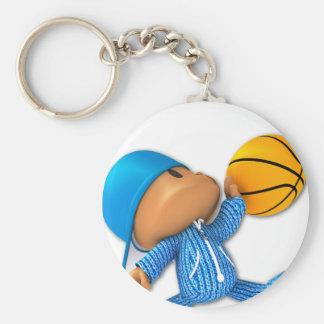 Basket-ball semi-transparent porte-clé