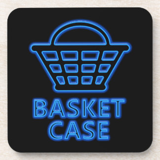 Basket case. drink coaster