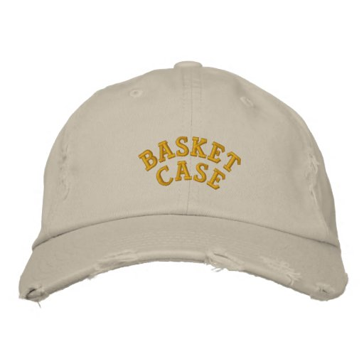 Basket Case Embroidered Baseball Caps
