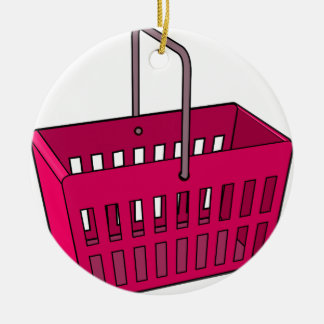 Basket Ceramic Ornament