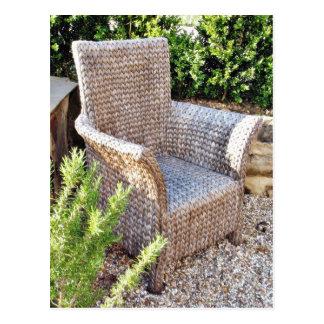 Basket Chair Furniture Postcard