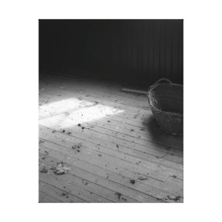 Basket in Black and White Canvas Print