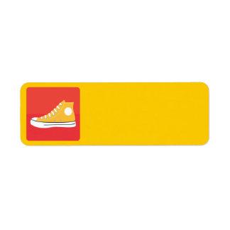 Basket jaune étiquettes d'adresse retour