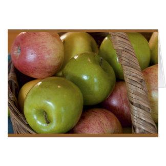 Basket of Apples Card