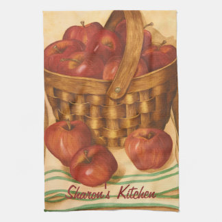 Basket of Apples - Kitchen Towel