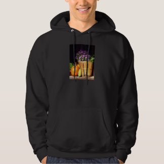 Basket of Asters With Pumpkin and Gourd Hoodie