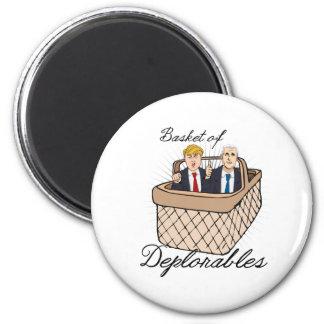 Basket of Deplorables - Trump Pence -- Anti-Trump  2 Inch Round Magnet
