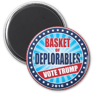 Basket of Deplorables Vote Trump 2016 Seal 2 Inch Round Magnet