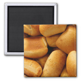 Basket of Dinner Rolls Square Magnet