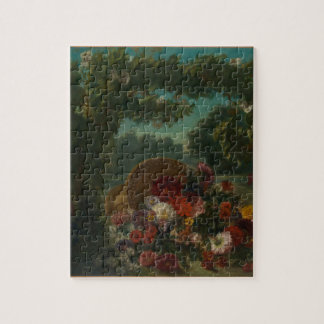 Basket of Flowers Jigsaw Puzzle
