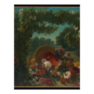 Basket of Flowers Letterhead