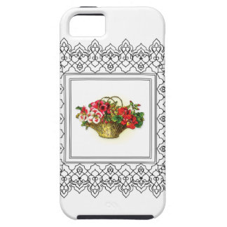 basket of flowers red pink iPhone 5 case