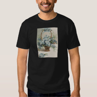 Basket of Forget-Me-Nots Mother's Day Card Tshirts