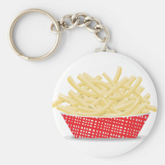 Basket Of French Fries Keychain