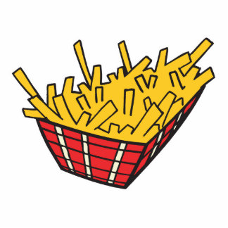 basket of french fries standing photo sculpture