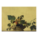 Basket of Fruit by Caravaggio Poster