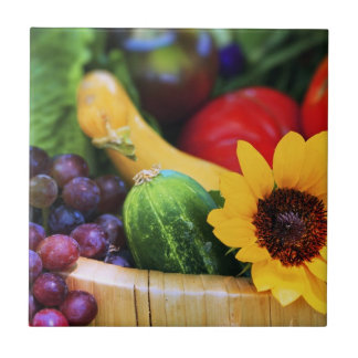 Basket of Garden's Harvest Ceramic Tiles