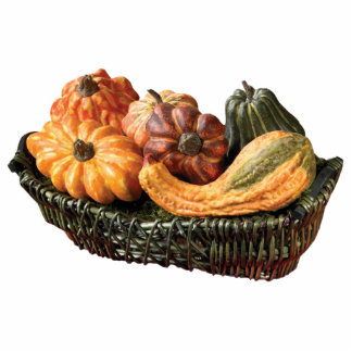 Basket of Gourds Standing Photo Sculpture