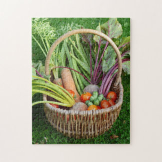 Basket of harvested vegetables jigsaw puzzle