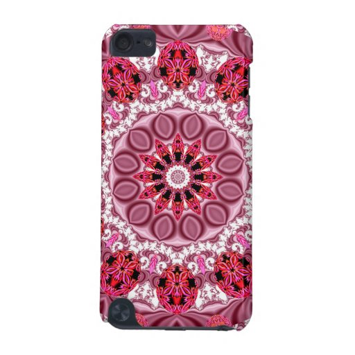 Basket of Jewels, Abstract Ruby Lace Candy iPod Touch (5th Generation) Cases