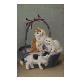 Basket of Kittens Matte Poster