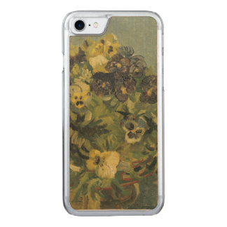Basket of Pansies on a Small Table by Van Gogh Carved iPhone 7 Case