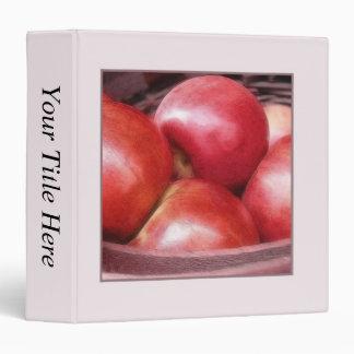 Basket Of Ripe Red Apples Binders